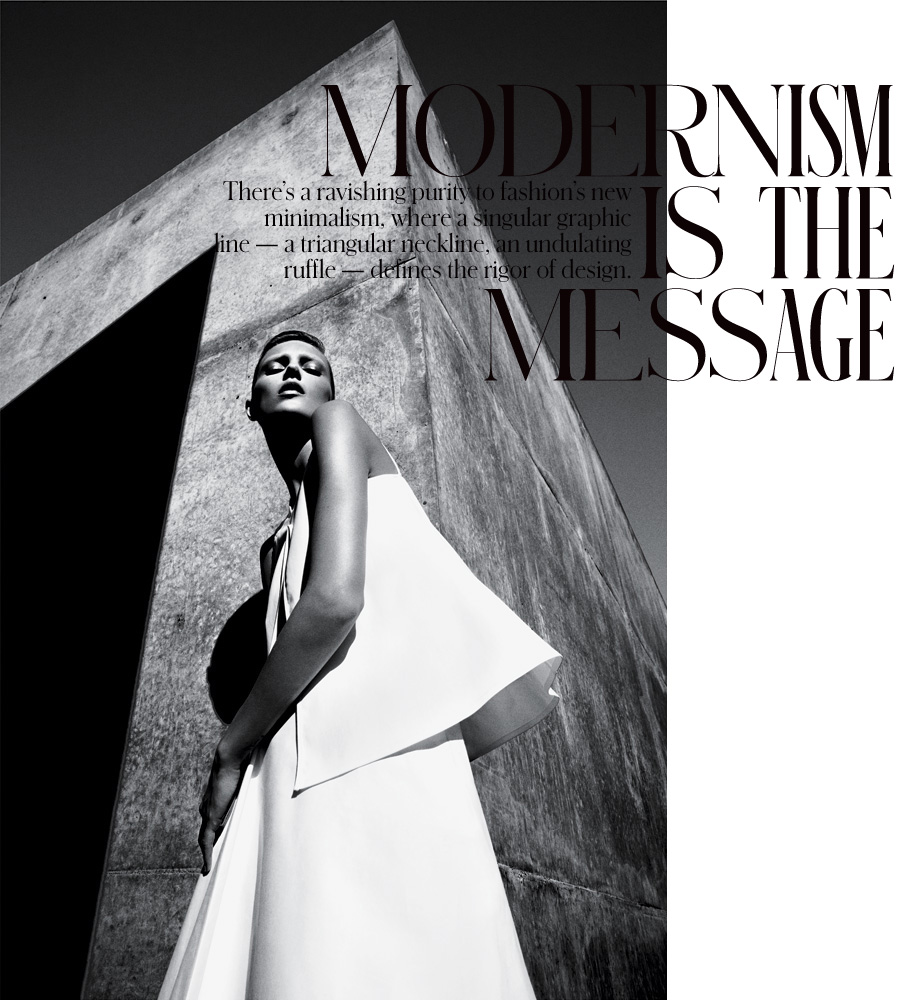 Photo ANJA RUBIK IN MODERNISM IS THE MESSAGE FOR T MAGAZINE