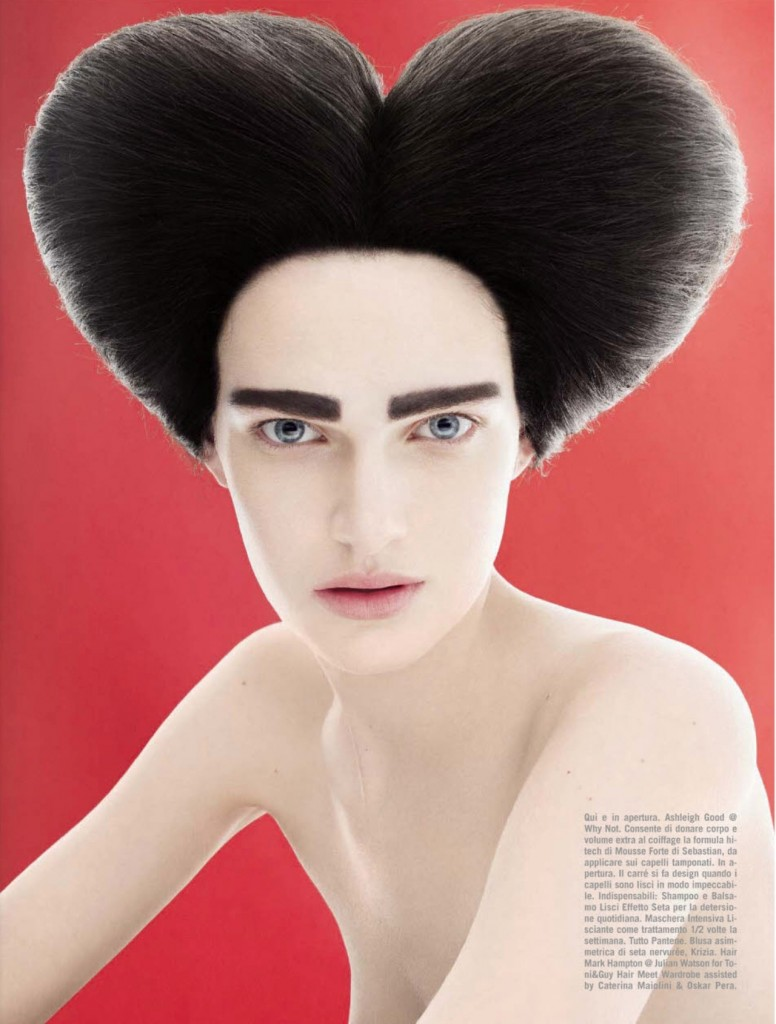 Photo BEAUTY BY SOLVE SUNDSBO IN VOGUE ITALIA APRIL 2013