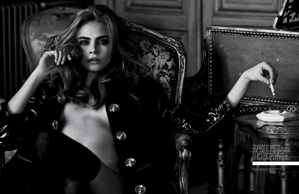 Photo CARA DELEVINGNE FOR INTERVIEW MAGAZINE APRIL 2013