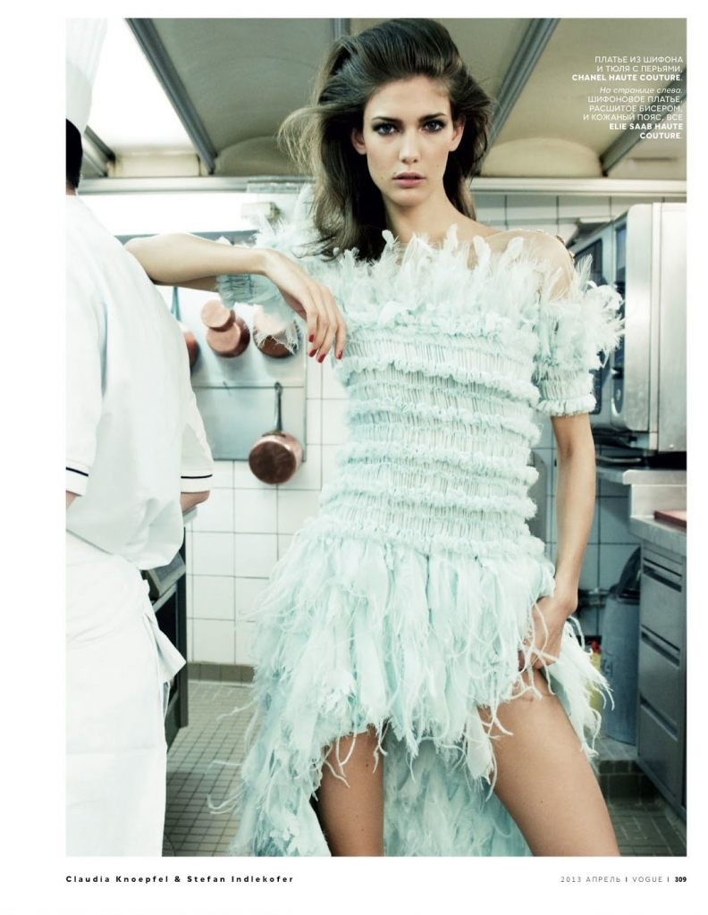 Photo KENDRA SPEARS BY CLAUDIA KNOEPFEL & STEFAN INDLEKOFER FOR VOGUE RUSSIA APRIL 2013