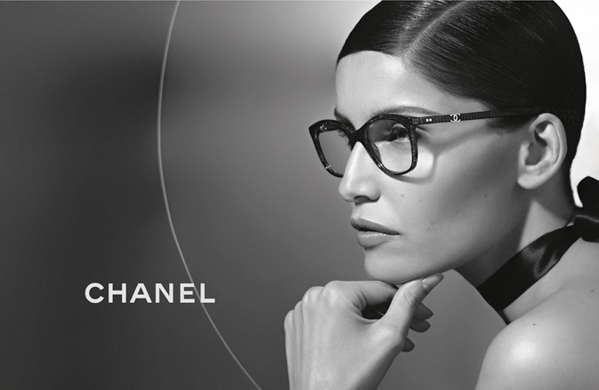 Photo LAETITIA CASTA BY KARL LAGERFELD FOR CHANEL EYEWEAR SPRING/SUMMER 2013 AD CAMPAIGN