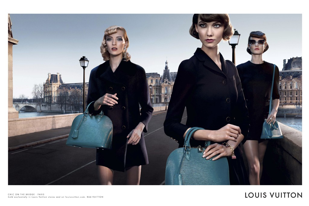 Photo LOUIS VUITTONS CAMPAIGN FOR ALMA BAG BY STEVEN KLEIN