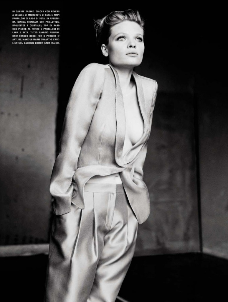 Photo MELANIE THIERRY BY PAOLO ROVERSI FOR VOGUE ITALIA APRIL 2013