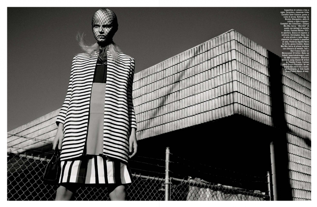 Photo VOGUE SUGGESTIONS BY GREG KADEL FOR VOGUE ITALIA APRIL 2013
