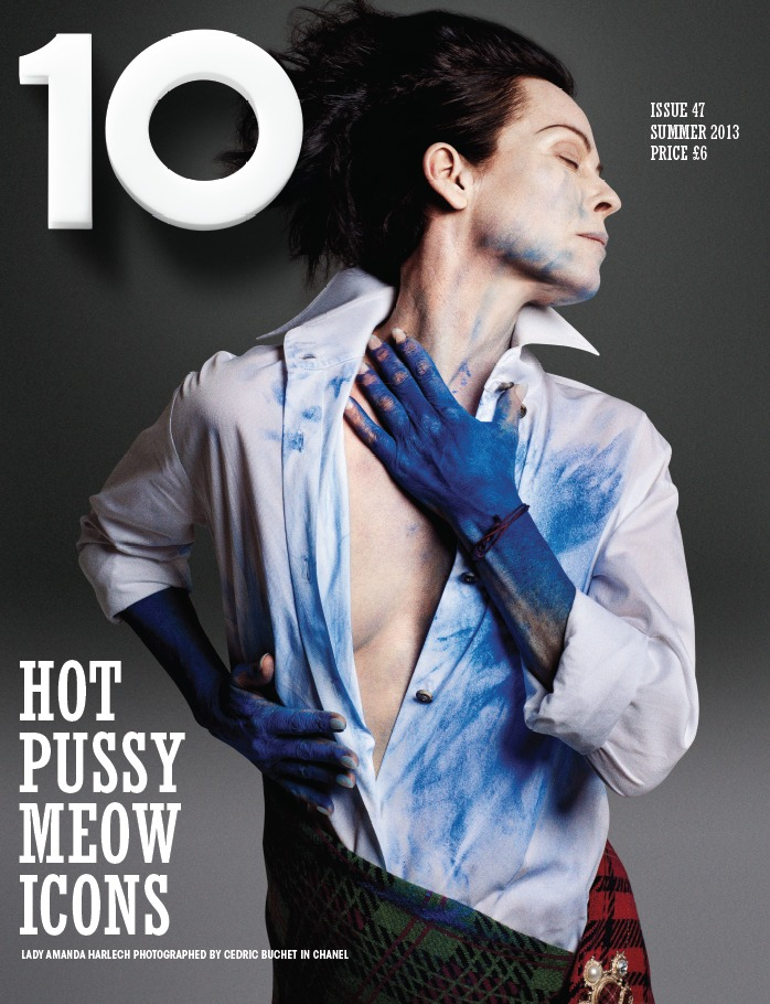 Photo AMANDA HARLECH BY CEDRIC BUCHET FOR 10 MAGAZINE SUMMER 2013 COVER