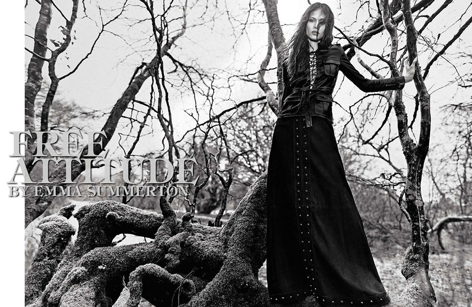 Photo AYMELINE VALADE FOR VOGUE ITALIA MAY 2013 BY EMMA SUMMERTON