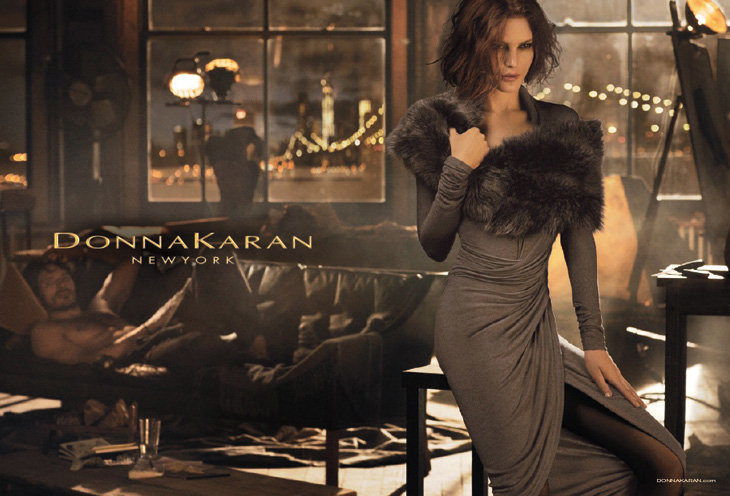 Photo CATHERINE MCNEIL AND ANDRES VELENCOSO BY MIKAEL JANSSON FOR DONNA KARAN FALL/WINTER 2013