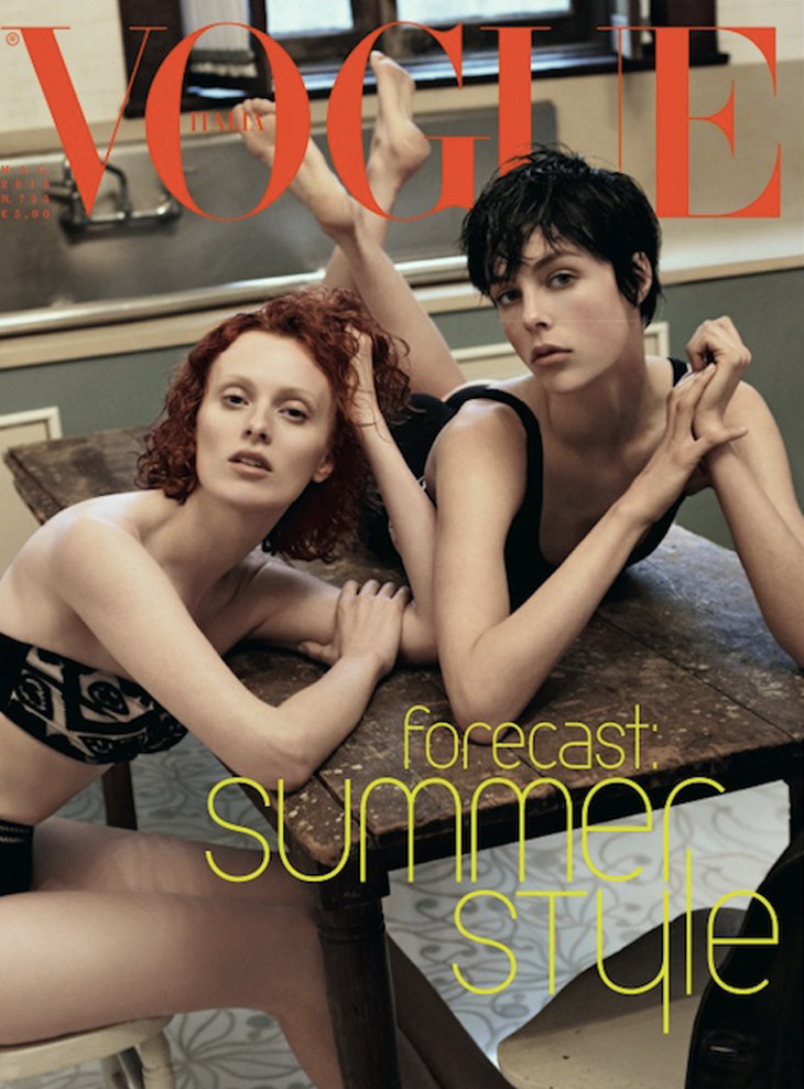 Photo EDIE CAMPBELL & KAREN ELSON FOR VOGUE ITALIA MAY 2013 COVER BY STEVEN MEISEL