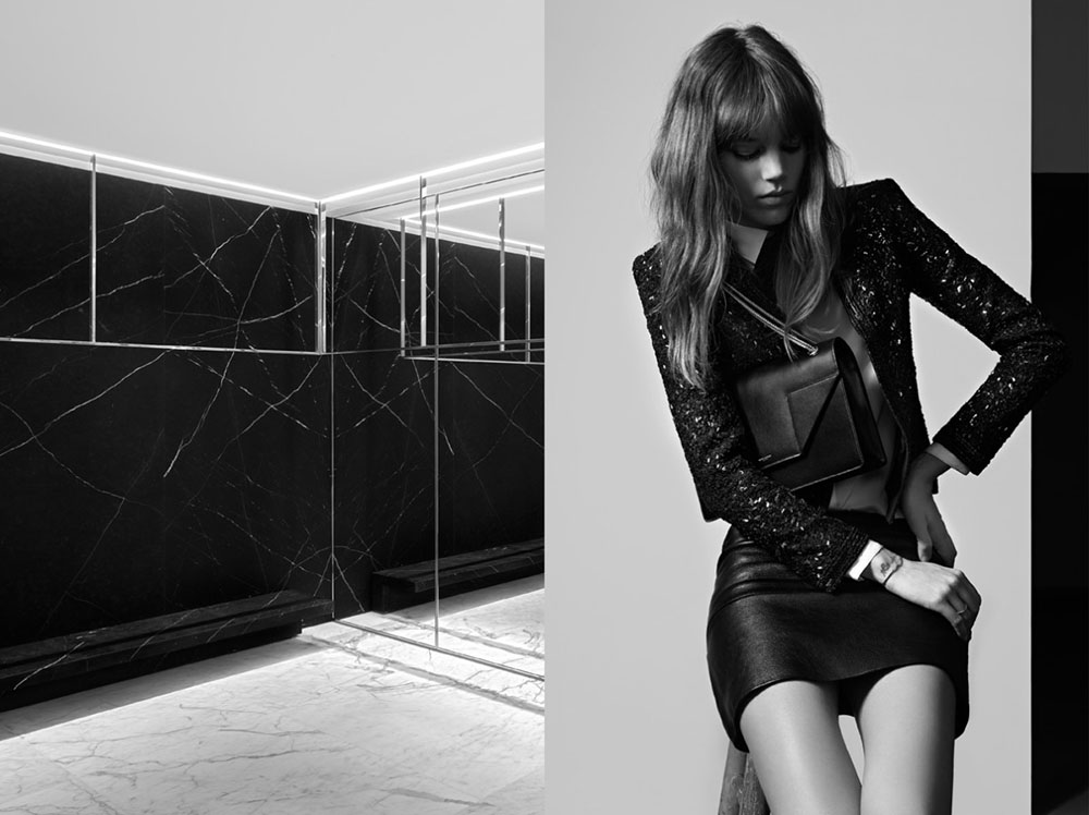 Photo FREJA BEHA ERICHSEN BY HEDI SLIMANE FOR SAINT LAURENT PRE FALL 2013 AD CAMPAIGN