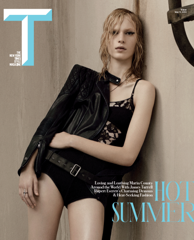 Photo JULIA NOBIS BY CRAIG MCDEAN FOR THE NY TIMES T STYLE MAGAZINE SUMMER 2013