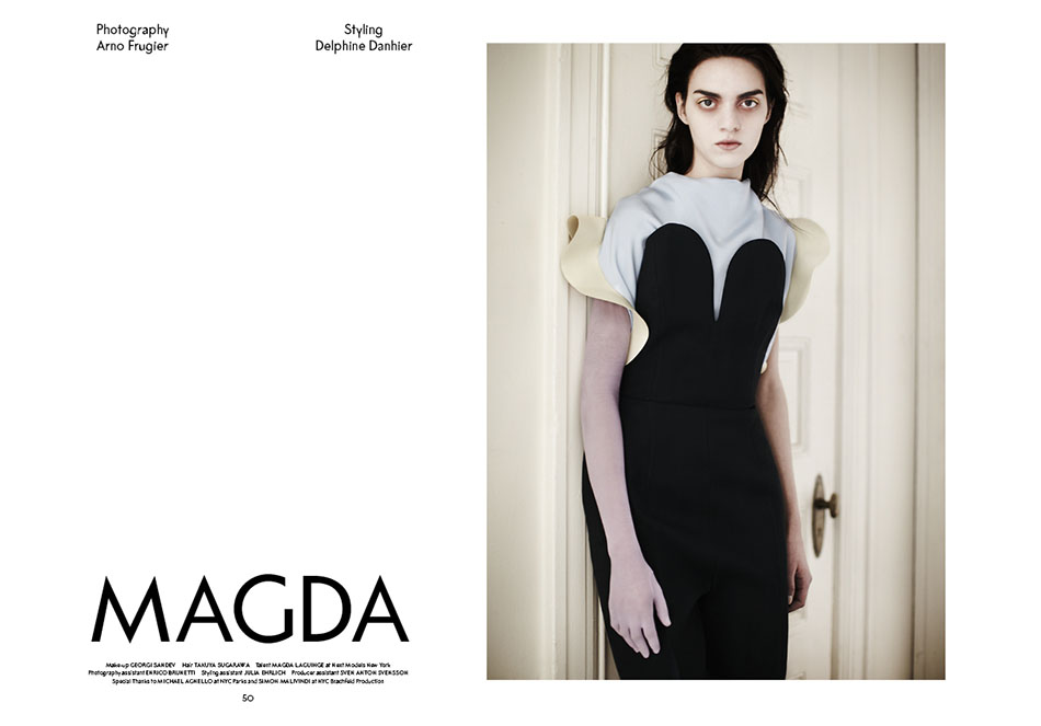 Photo MAGDA LAGUINGE BY ARNO FRUGIER FOR SSAW MAGAZINE S/S 2013
