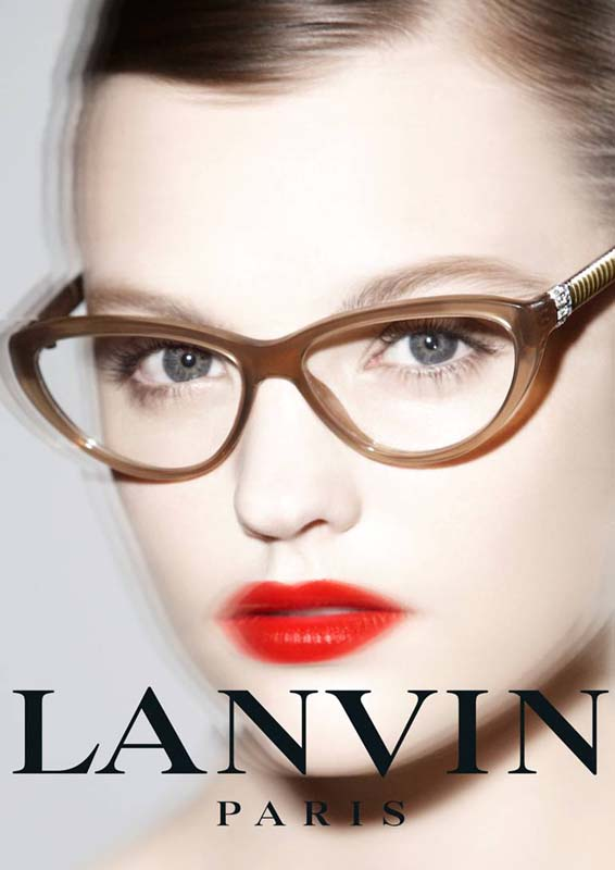 Photo MONTANA COX FOR LANVIN EYEWEAR SPRING 2013 AD CAMPAIGN BY STEPHANE GALLOIS
