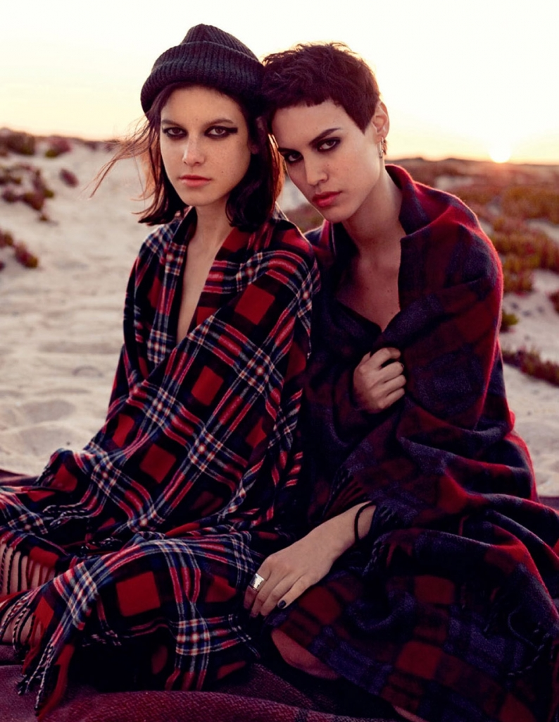 Photo Alana Bunte & Tatiana Cotliar for Vogue Russia July 2013 by David Mushegain