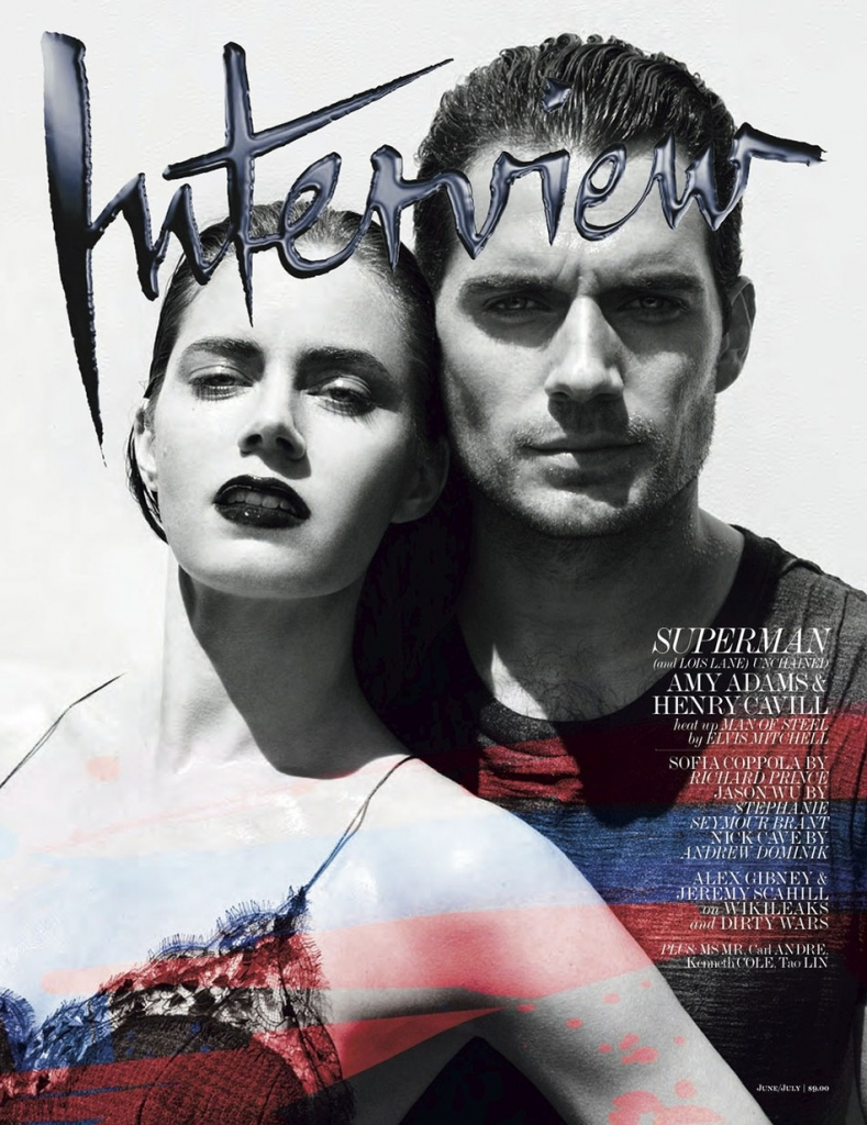 Photo AMY ADAMS & HENRY CAVILL FOR INTERVIEW MAGAZINE JUNE/JULY 2013