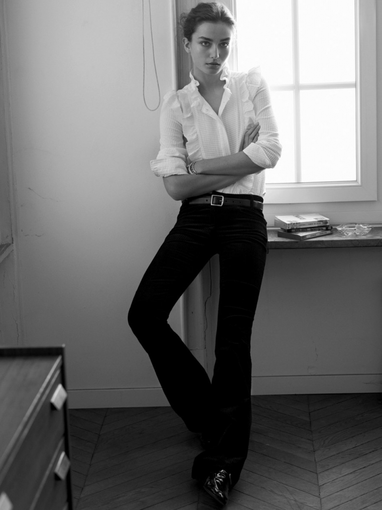 Photo Andreea Diaconu for Isabel Marant Fall/Winter 2013/2014 Campaign by Karim Sadli