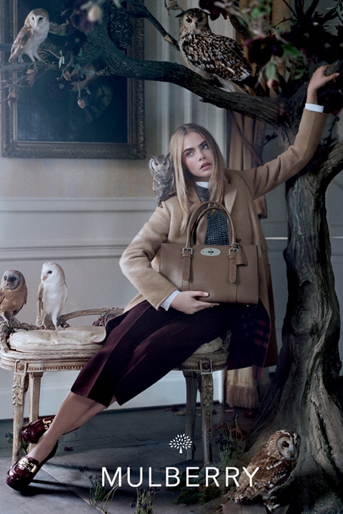 Photo Cara Delevingne for Mulberry Autumn/Winter 2013 Campaign