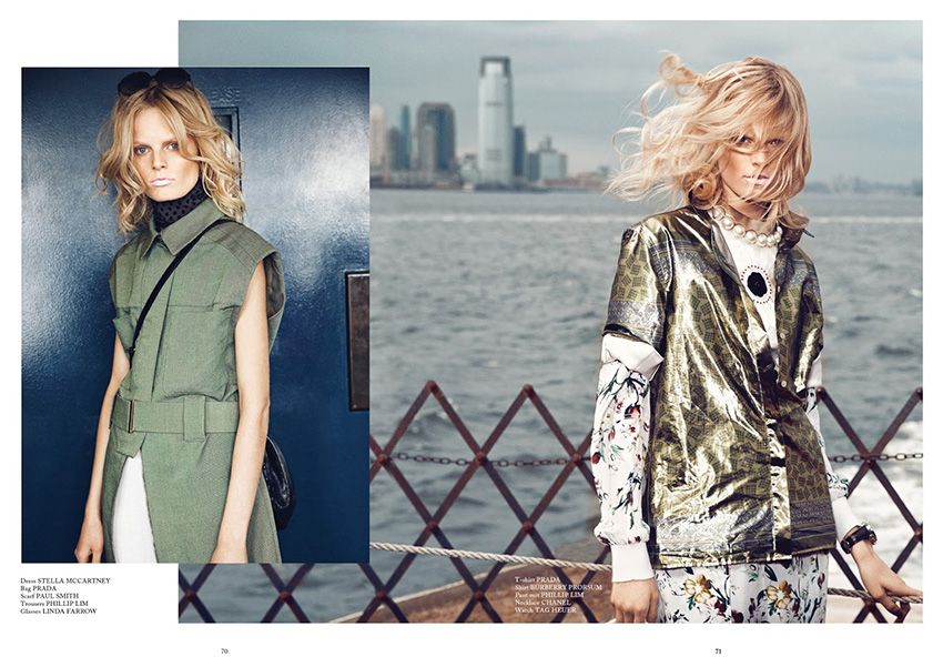 Photo Hanne Gaby Odiele by Walter Chin for Glass Magazine Summer 2013