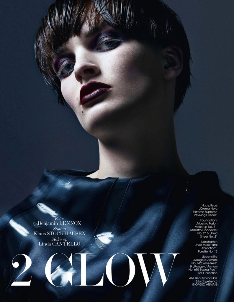 Photo Juliane Gruner by Benjamin Lennox for Interview Germany 2013