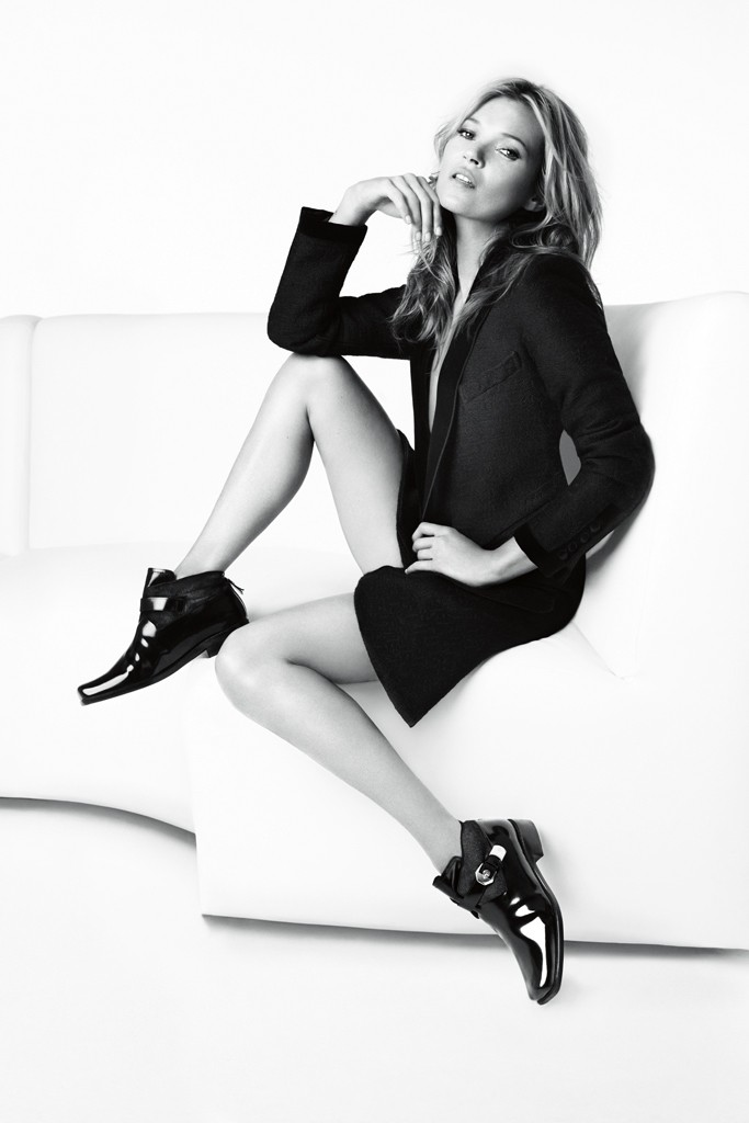 Photo Kate Moss by Mario Testino for Stuart Weitzman Fall/Winter 2013/2014 Campaign