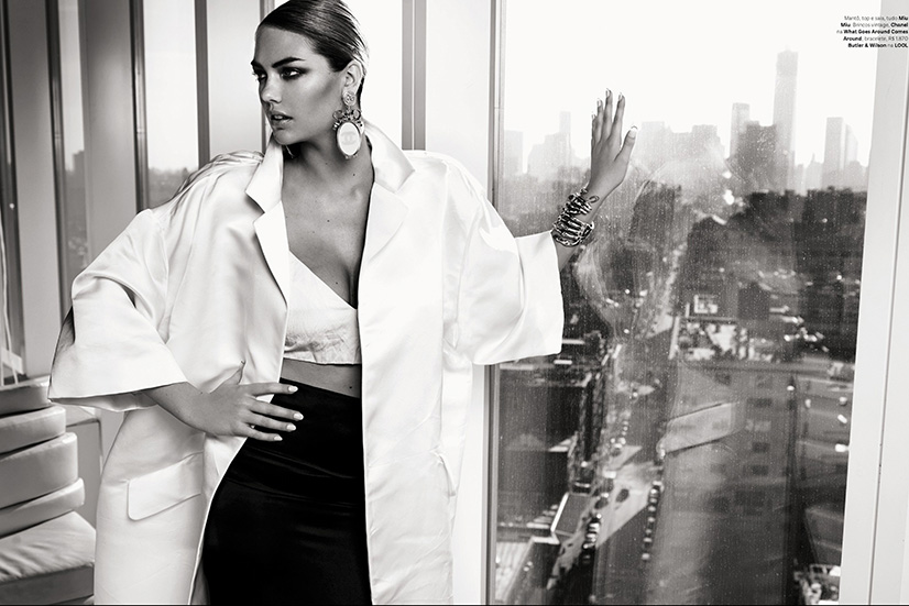 Photo Kate Upton for Vogue Brazil July 2013 by Henrique Gendre