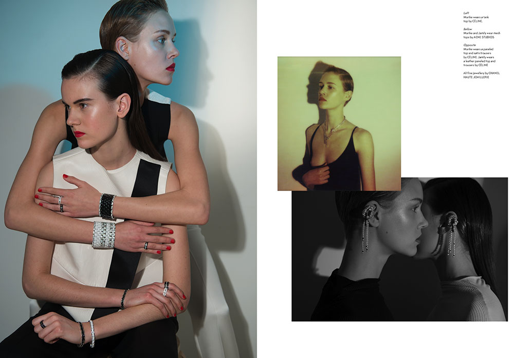 Photo MARIKE LE ROUX AND JAMILY WERNKE MEURER BY KIRA BUNSE FOR SSAW MAGAZINE SPRING/SUMMER 2013