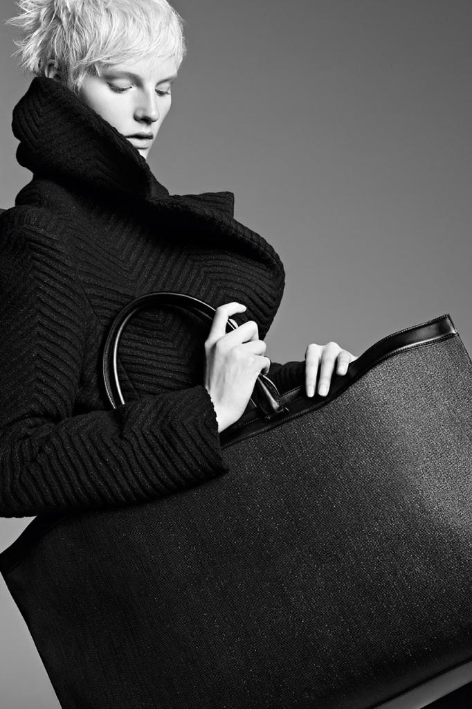 Photo Sara Blomqvist by Karim Sadli for Akris Fall/Winter 2013/2014 Campaign