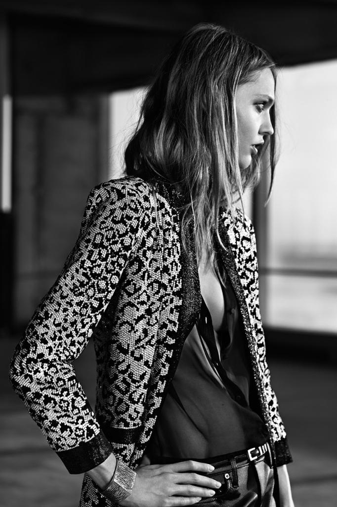 Photo Sasha Pivovarova by Hedi Slimane for Saint Laurent Resort 2014
