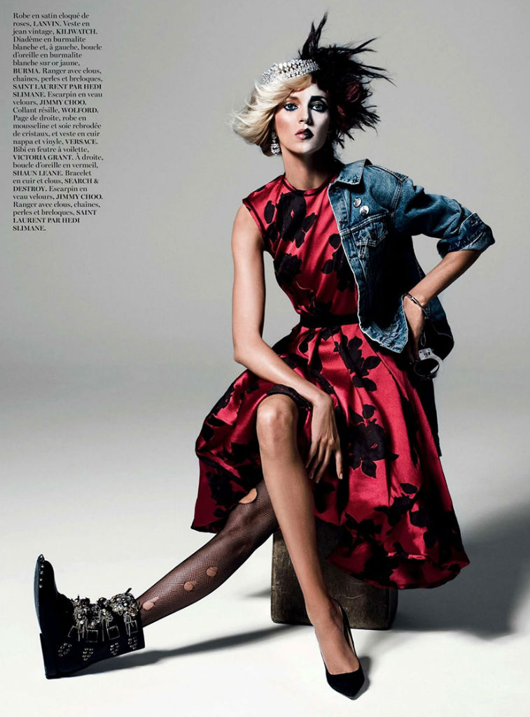 Photo Anja Rubik by Inez & Vinoodh for Vogue Paris August 2013