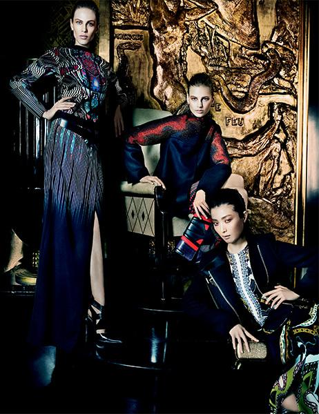 Photo Aymeline Valade, Elisabeth Erm, Sung Hee Kim, Ton Heukels, Andres Risso & Nan Fulong for Etro Fall/Winter 2013/2014 by Mario Testino