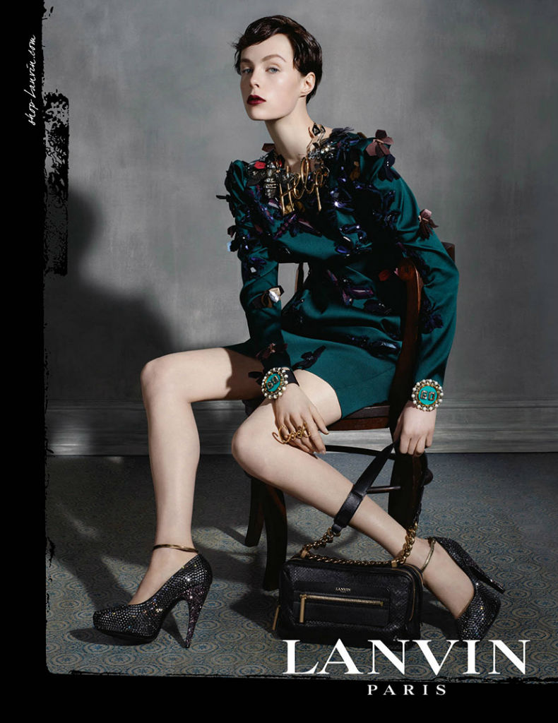 Photo Edie Campbell by Steven Meisel for Lanvin Fall/Winter 2013/2014 Campaign