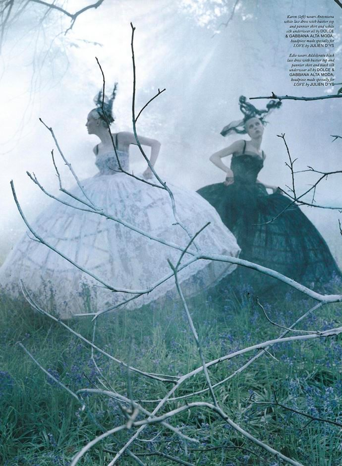 Photo Edie Campbell & Karen Elson by Tim Walker for LOVE Magaine 10 Fall/Winter 2013/2014