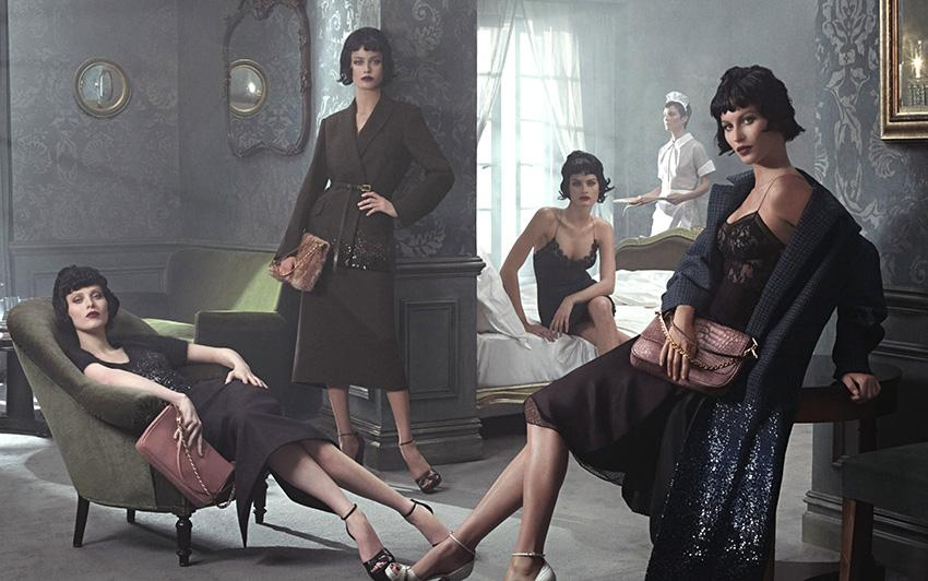 Photo Gisele Bundchen, Carolyn Murphy, Isabeli Fontana & Karen Elson for Louis Vuitton Fall/Winter 2013/2014 Campaign by Steven Meisel