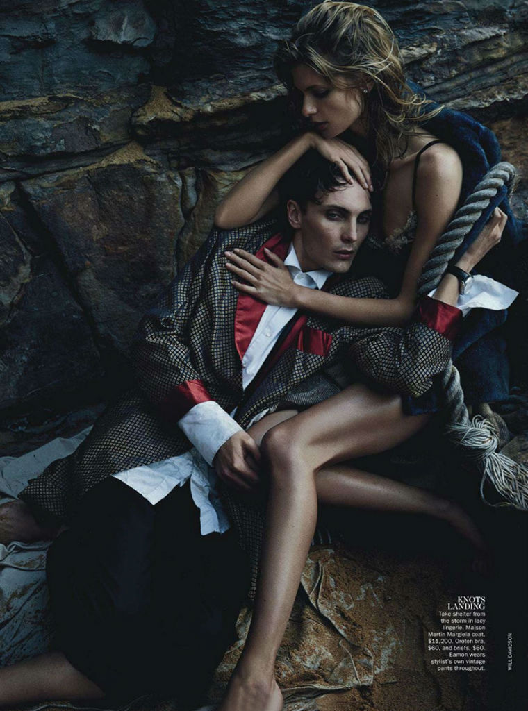 Photo Julia Stegner & Eamon Farren for Vogue Australia August 2013 by Will Davidson