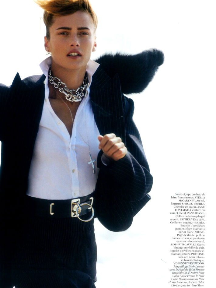 Photo Karmen Pedaru for Vogue Paris August 2013 by Gilles Bensimon