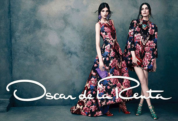 Photo Kate Bogucharskaia, Patrycja Gardygajlo & Iris Van Berne for Oscar de la Renta Fall/Winter 2013/2014 Campaign