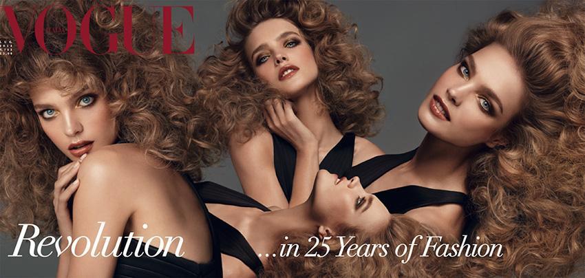 Photo Linda, Gisele, Stella, Natalia, Raquel, Amanda, Meghan & Cameron by Steven Meisel for Vogue Italia July 2013 Covers