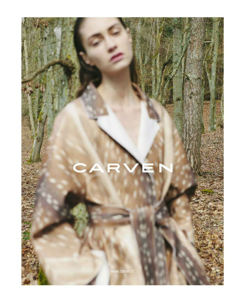 Photo Marine Deleeuw by Viviane Sassen for Carven Fall/Winter 2013/3014 Campaign