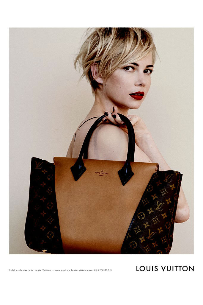 Photo Michelle Williams for Louis Vuitton Handbags Campaign by Peter Lindbergh