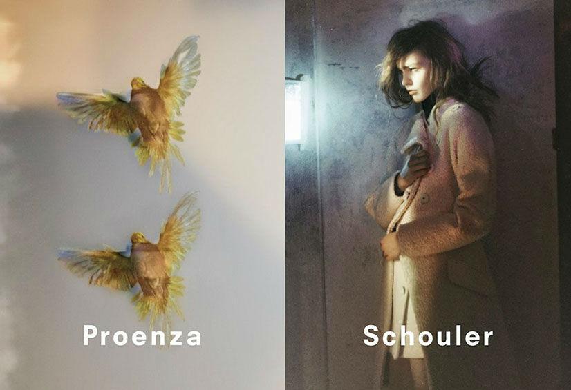 Photo Sasha Pivovarova by David Sims for Proenza Schouler Fall/Winter 2013/2014 Campaign