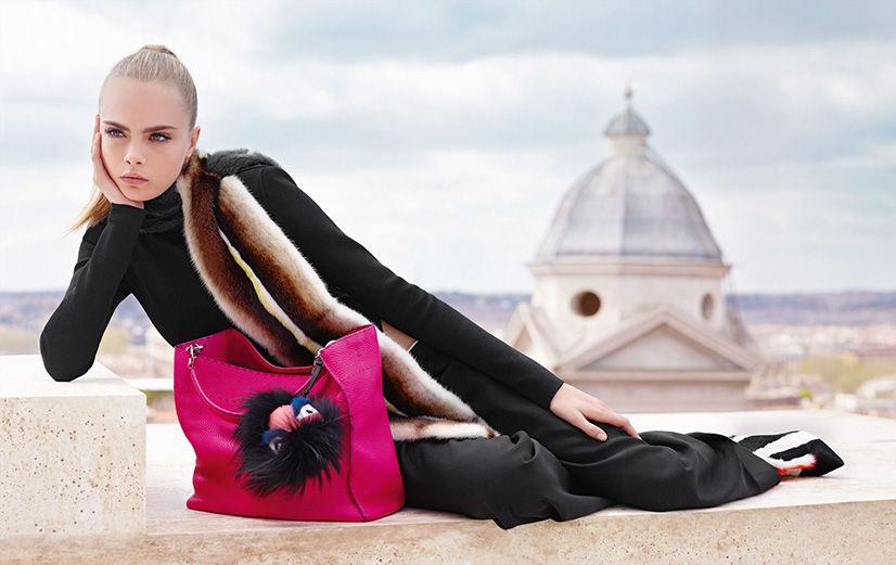 Photo Saskia de Brauw & Cara Delevingne for Fendi Fall/Winter 2013/2014 Campaign by Karl Lagerfeld