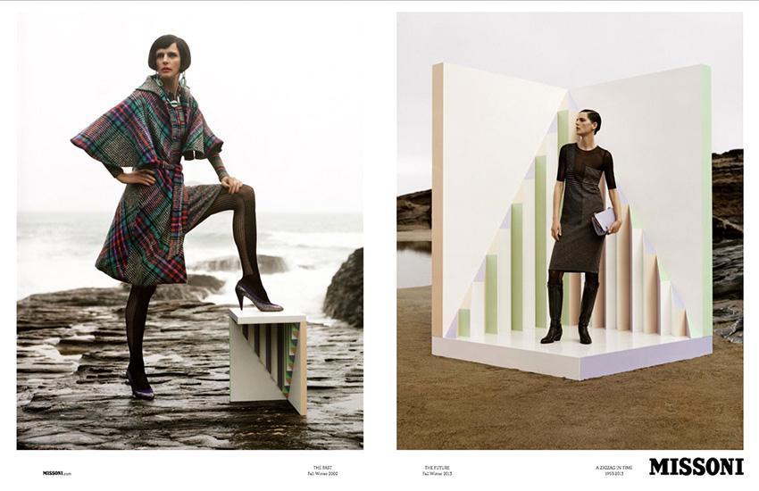 Photo Stella Tennant & Paul Sculfor for Missoni Fall/Winter 2013/2014 Campaign by Alasdair McLellan