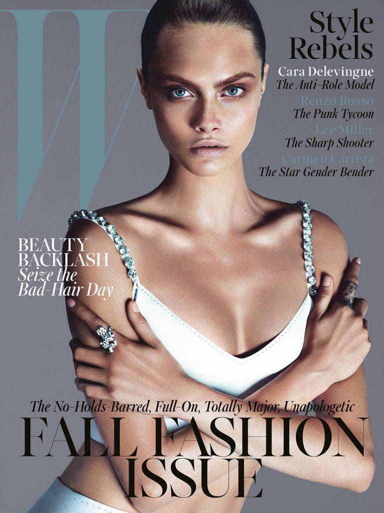 Photo Cara Delevingne by Mert & Marcus for W Magazine September 2013 Cover