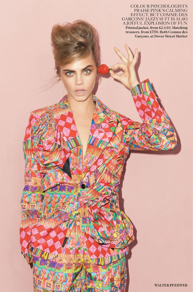 Photo Cara Delevingne for Vogue UK September 2013 by Walter Pfeiffer