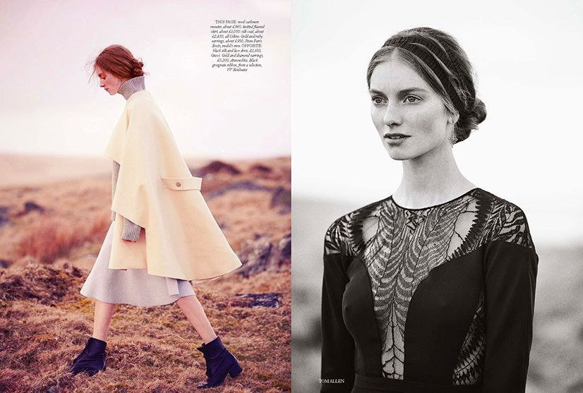 Iris Van Berne for Harpers Bazaar UK September 2013 by Tom Allen