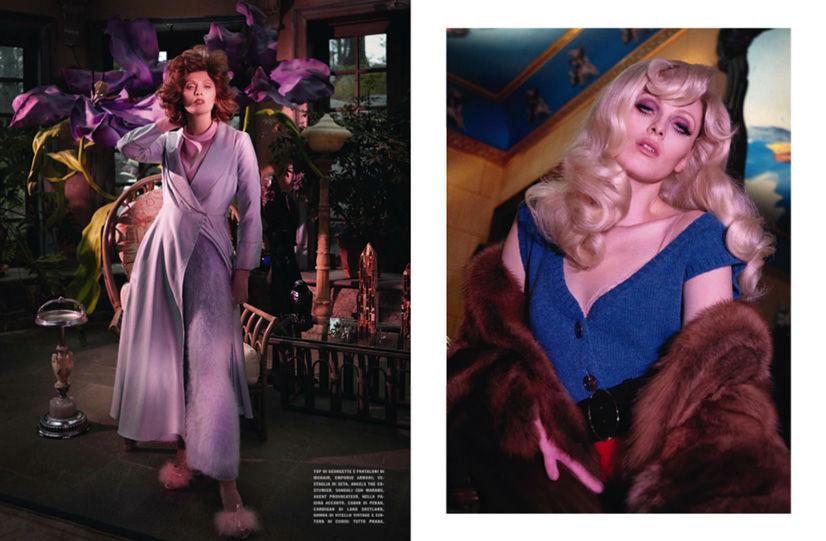 Photo Karen Elson for Vogue Italia August 2013 by Yelena Yemchuk