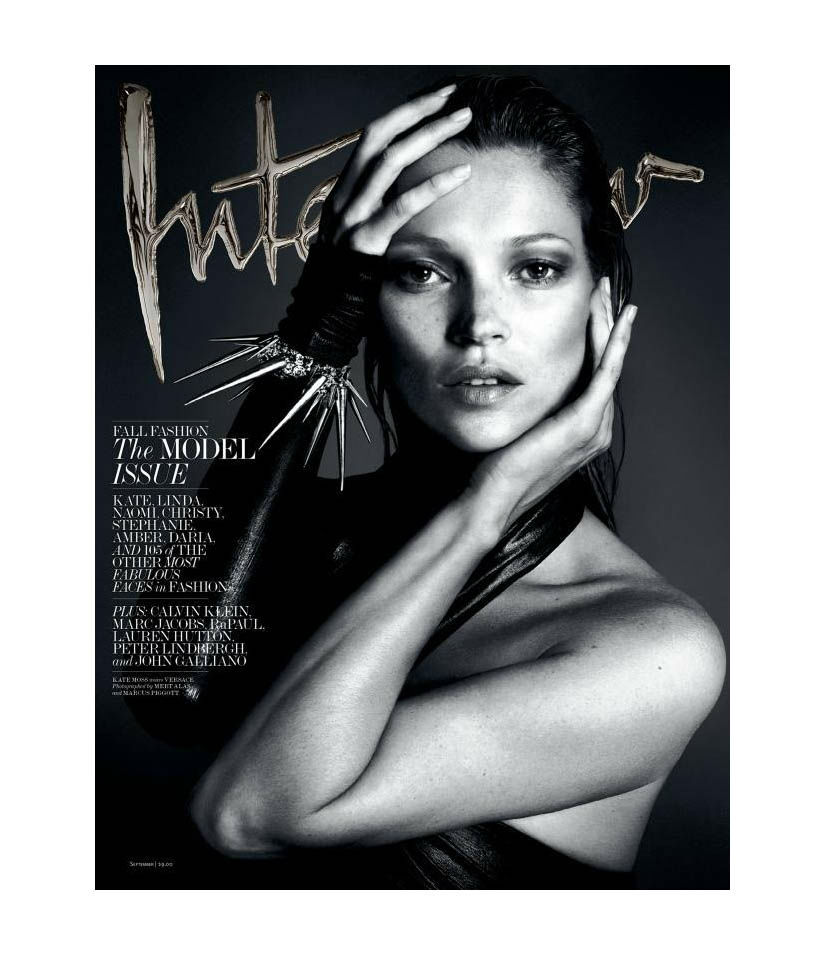 Photo Kate Moss by Mert & Marcus for Interview September 2013 Cover