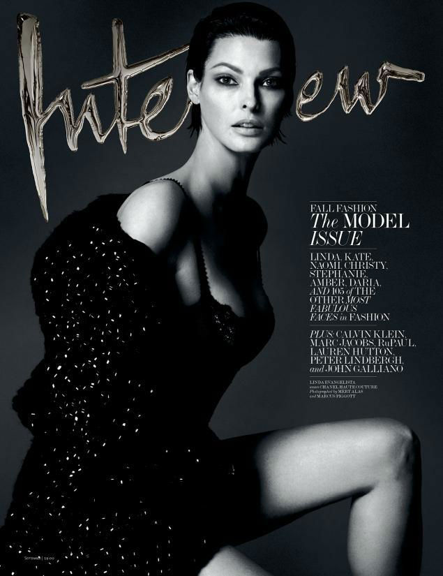Photo Interview Magazine September 2013: Amber, Daria, Naomi, Christy, Kate, Linda & Stephanie by Mert & Marcus