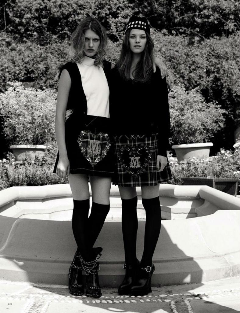Photo Mia Temirova & Claudia Anticevic for Harpers Bazaar Russia September 2013