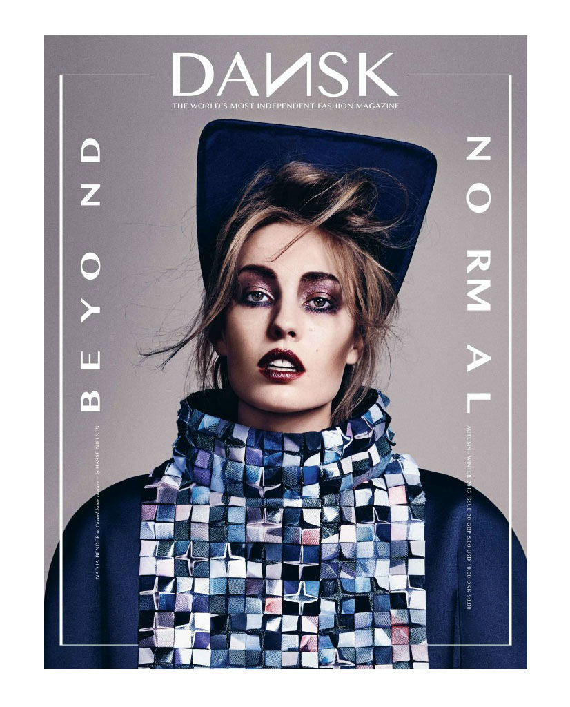Photo Nadja Bender by Hasse Nielsen for Dansk Magazine No.30 Cover