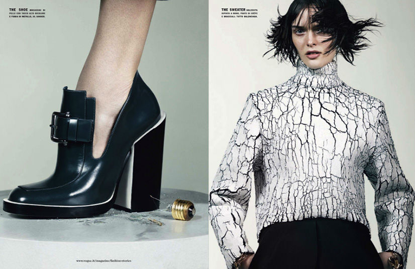 Photo Sam Rollinson & Ashleigh Good by Craig McDean for Vogue Italia September 2013